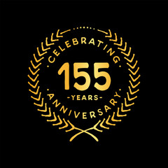 155 years design template. 155th vector and illustration