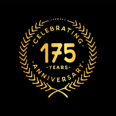 175 years design template. 175th vector and illustration