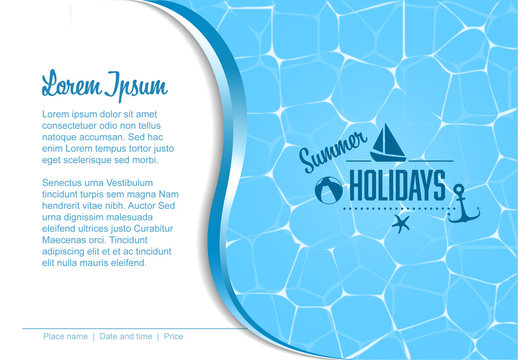 Flyer Layout with a Pool Image