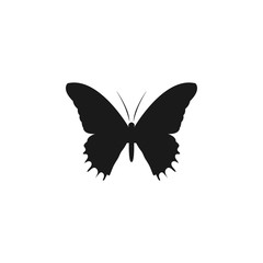 Butterfly silhouette logo icon design template vector