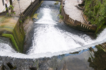 Waterfall in New Athos on the river Psyrtsha
