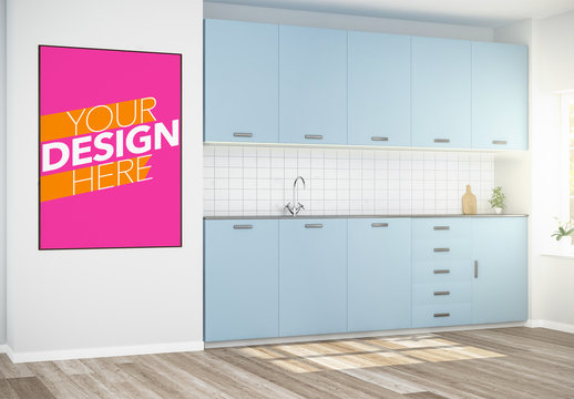 Poster in Kitchen Mockup