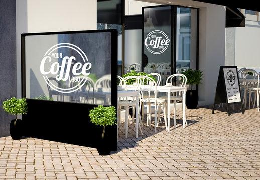 Restaurant Branding and Signage Mockup