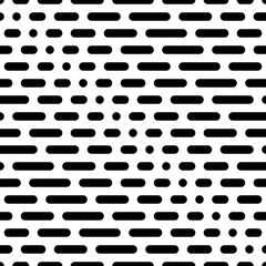 Geometric pattern with round shapes. Vector seamless pattern.