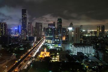 Silom Skyline by Night