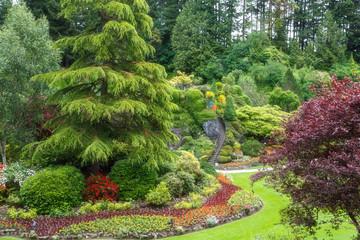 Butchart gardens in summer, Victoria, British Columbia, Canada. Travel Canada.