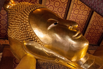 Head of the Reclining Buddha at Wat Pho