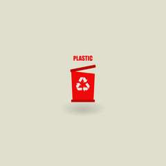 trash icon, ecology