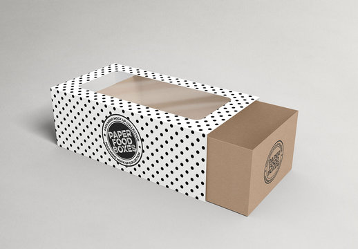 Drawer Box with Window Mockup