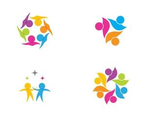 Community care symbol illustration