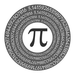 The Pi symbol mathematical constant irrational number and many formulas background