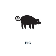Pig icon. Simple element illustration. Pig concept symbol design