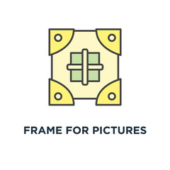 frame for pictures icon. to drop concept symbol design, add and share a photo, an image, share images, data exchange, file transfer service, outline ui design, vector illustration