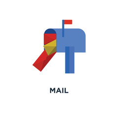 mail icon. email concept symbol design, send message sign vector