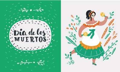 Mexican woman dancing.