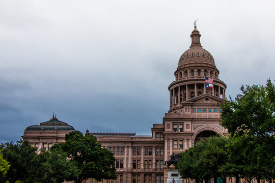 View of the Capitol Building Austin Texas