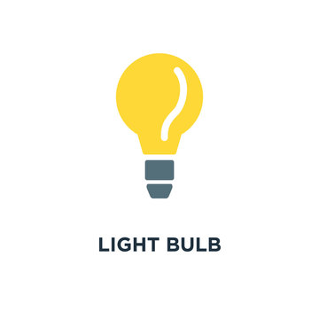 light bulb icon. idea concept, energy power concept symbol desig