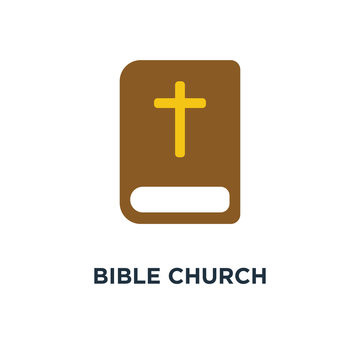 bible church icon. the name of the mission concept symbol design