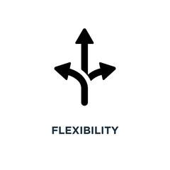 flexibility icon. flexibility concept symbol design, vector illu