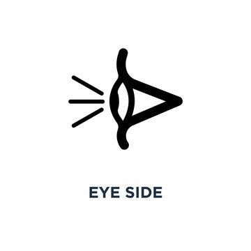 eye side icon. eye side concept symbol design, vector illustrati
