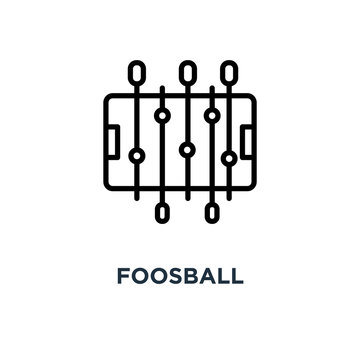 foosball icon. foosball concept symbol design, vector illustrati