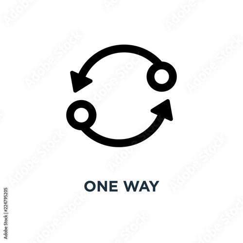 One Way Icon Two Way Concept Symbol Design Vector Illustration