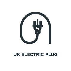 uk electric plug icon. uk electric plug concept symbol design, v