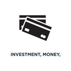investment, money, finance and banking icons icon. business mana