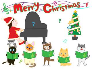 子供と猫たちのクリスマスコンサート