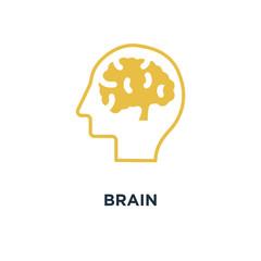 brain icon. human mind, creative idea concept concept symbol des