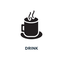 drink icons icon. beer glass, coffee cup, wine, soda and juice b