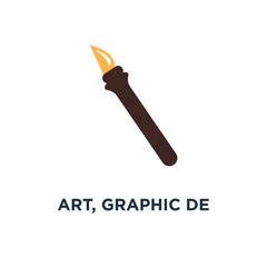 art, graphic design icon, symbol of drawing and painting tools, illustrations symbols concept