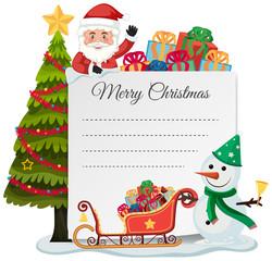 Merry christmas list concept