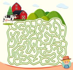 farm maze puzzle concept