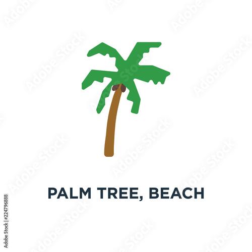 Palm Tree Beach Island Icon Symbol Of Travel Concept Stock Image