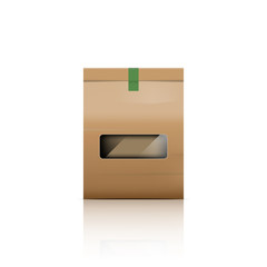 Paper bag packaging with reflect