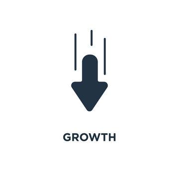 growth icon. higher level concept symbol design, upgrade plan, financial increase, mono vector illustration