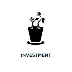 investment icon. business management concept symbol design, finance and strategy . money banking and symbols vector illustration