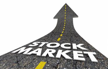 Stock Market Investment Financial Money Road Arrow 3d Illustration