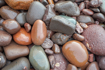 Colorful beach stones on Lake Superior