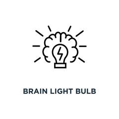 brain light bulb icon. brain light bulb concept symbol design, vector illustration