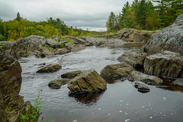 Rocky St. Louis River at Jay Cooke State Park in Minnesota
