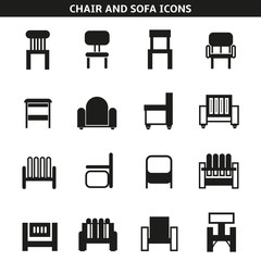 chair and sofa icons