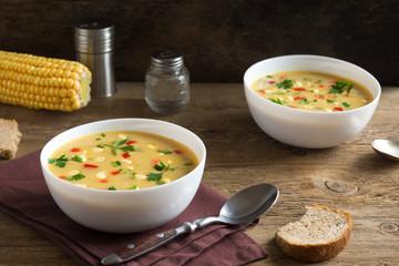 Fotobehang - Corn Chowder Soup