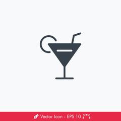 Bar, Alcohol, Drink Icon / Vector