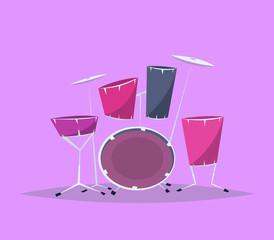 Cartoon drum set.