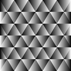 Abstract polygon black and white graphic triangle  pattern.
