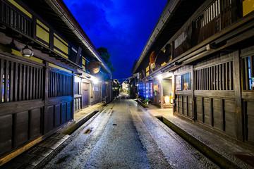 traditional takayama town at Gifu prefecture, Japan