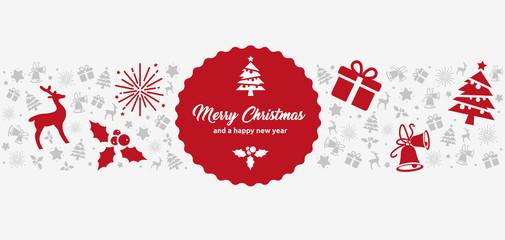 weihnachtliche Grußkarte im DIN Lang Format mit Icons