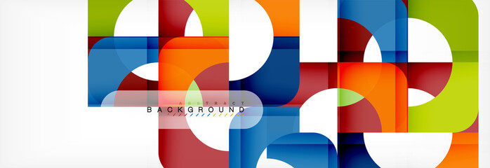 Geometric squares abstract banner. Vector illustration for business brochure or flyer, presentation and web design layout